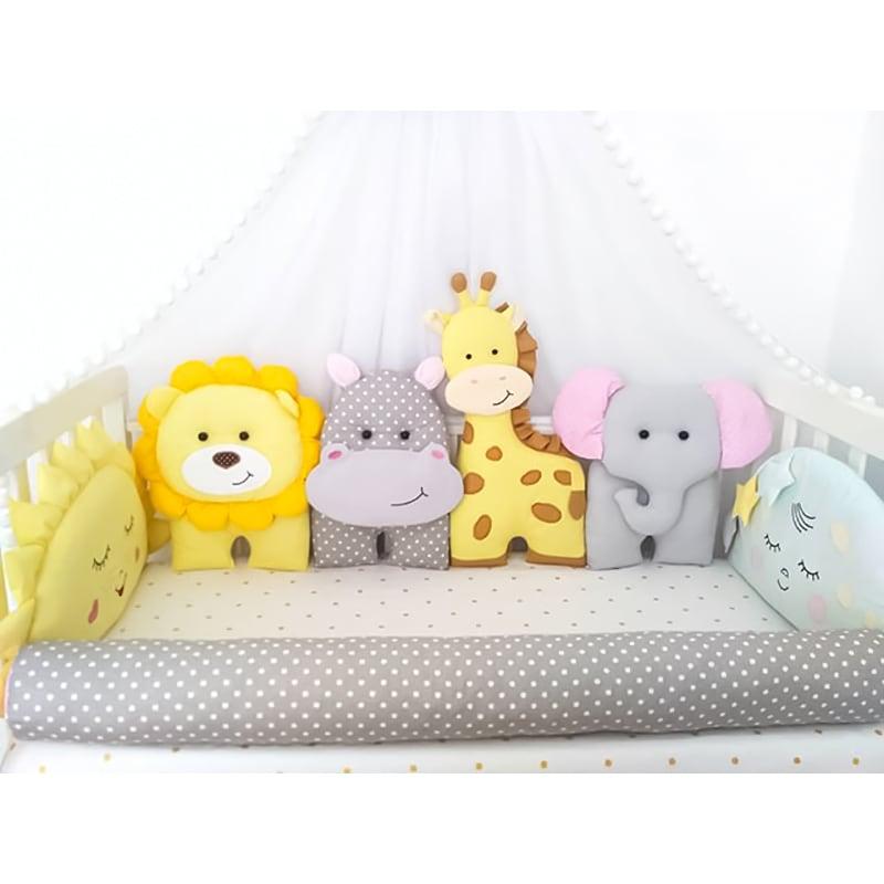 Бортики в кроватку Сафари