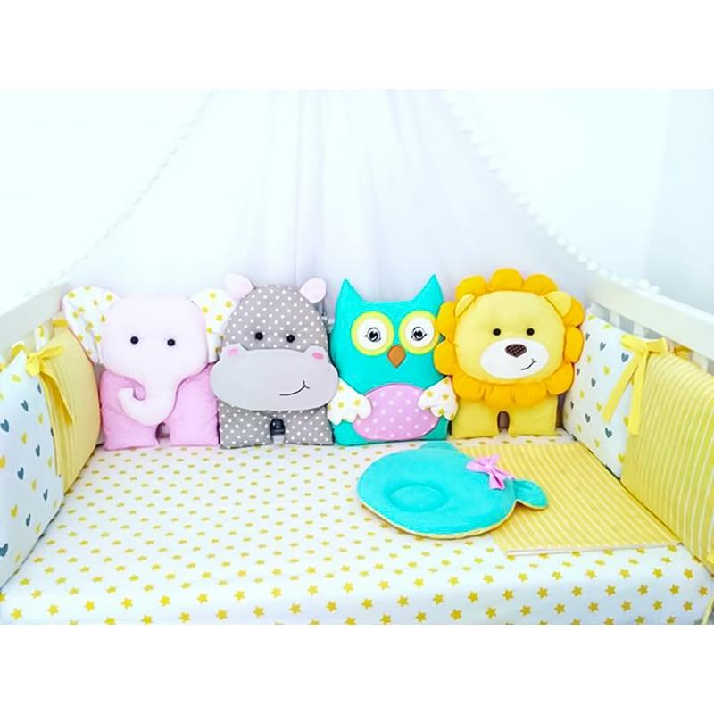 Эксклюзивные бортики в кроватку Саванна