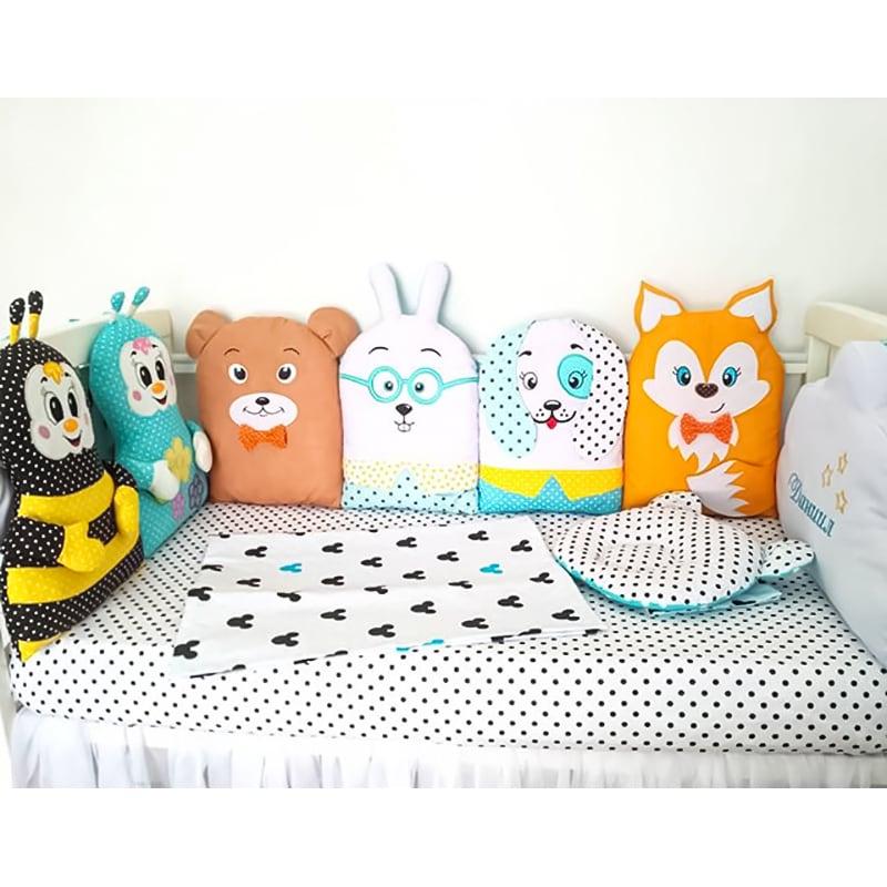 Оригинальные Бортики в кроватку Винни и Пчелы