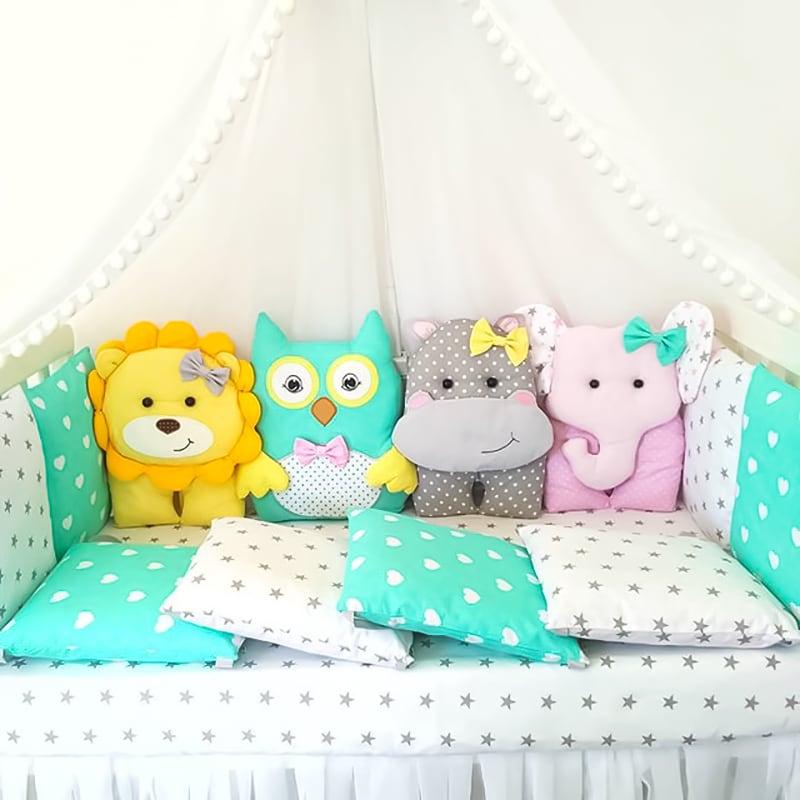 Бортики в ліжечко хлопчикові Казка на Ніч