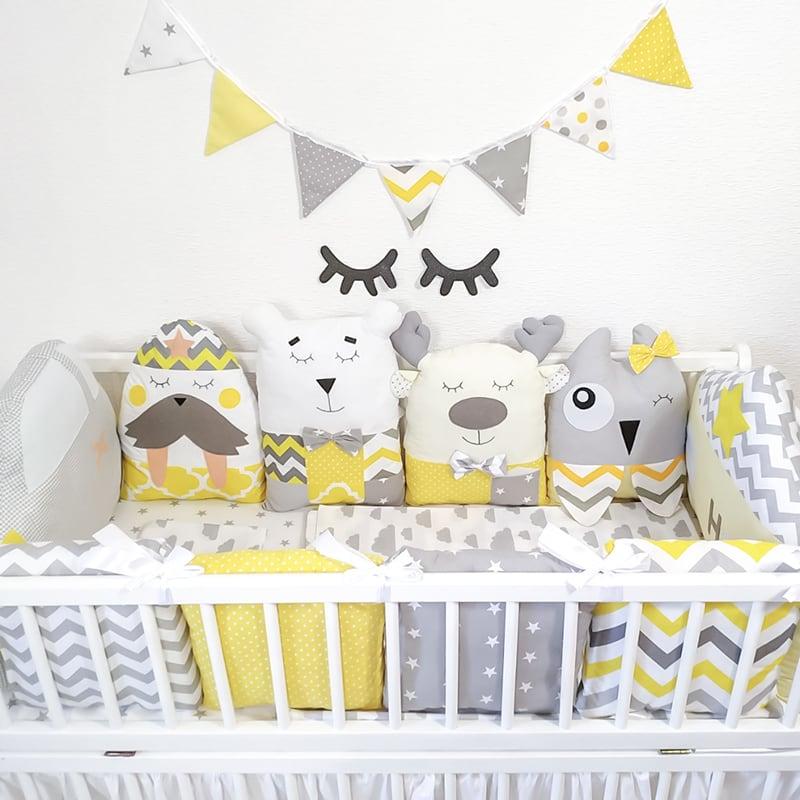 Дитячі бортики в ліжечко Дідок-Лісовичок