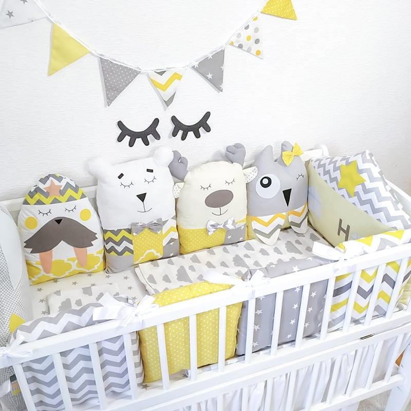 Детские бортики в кроватку Старичок Лесовичок