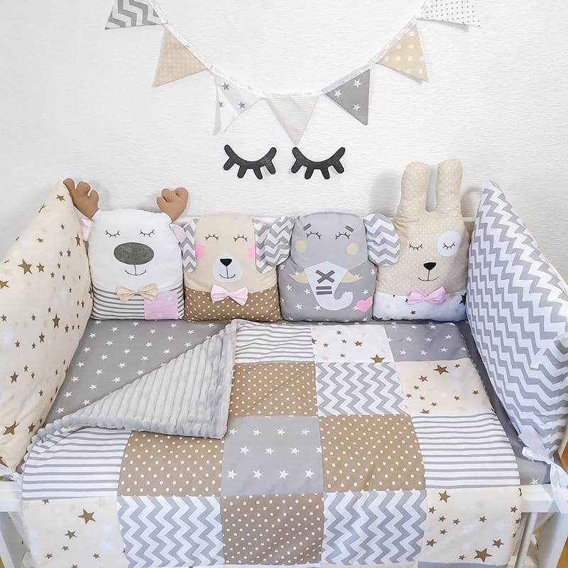 Бампери подушки на ліжечко новонародженим Казкова Ніч