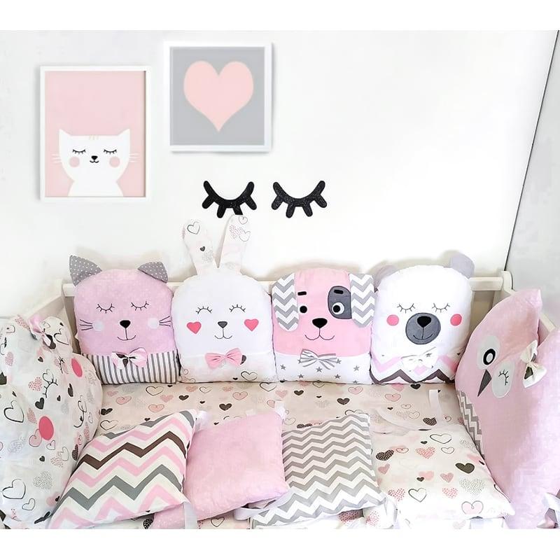 Бортики на ліжечко дівчинці Радісні Сни