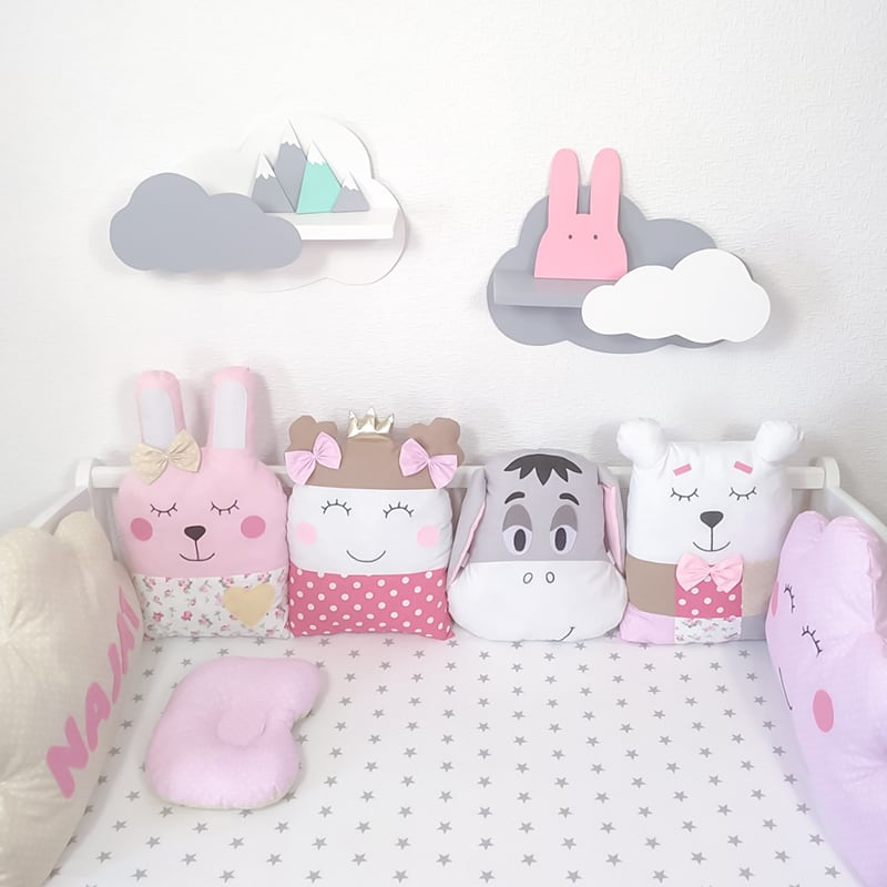 Бортики на кроватку девочке Маленькая Принцесса