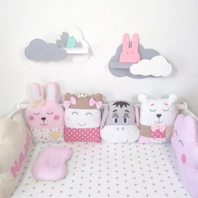 Бортики на ліжечко дівчинці Маленька Принцеса