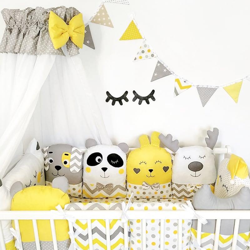 Бортики в ліжечко Сонячний Зайчик