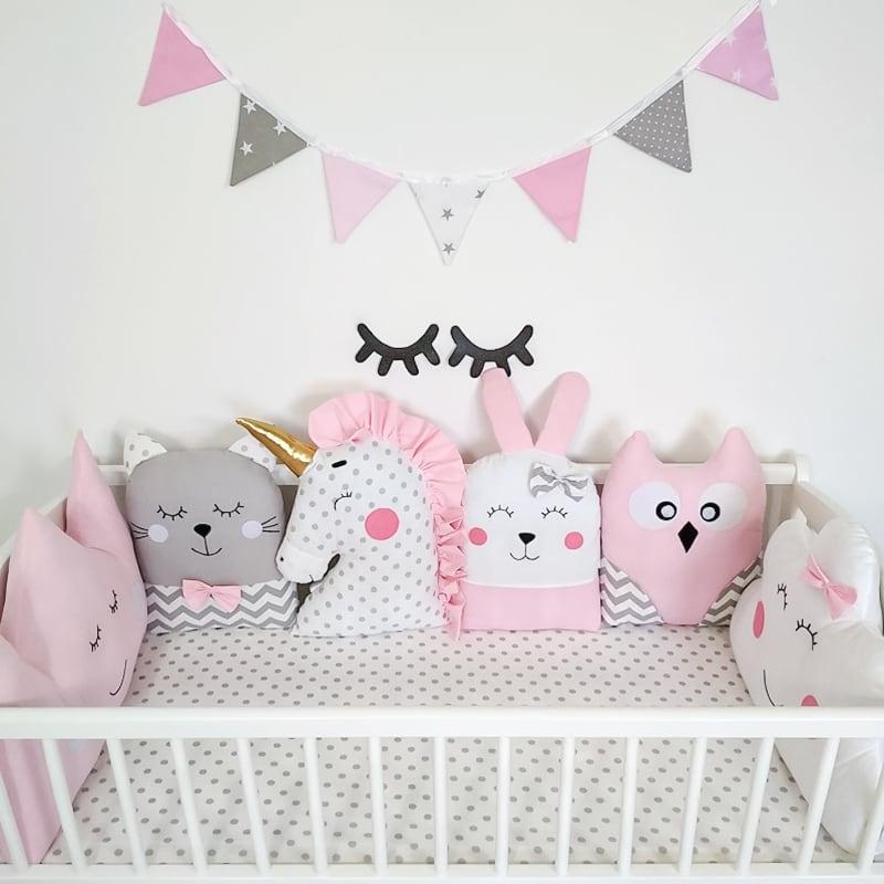 Захисні бортики в овальну ліжечко новонародженого Бузкові Сни