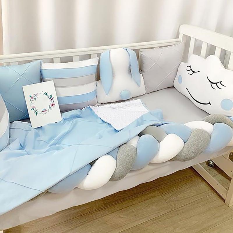 Бортики в кроватку мальчику Белый Кролик