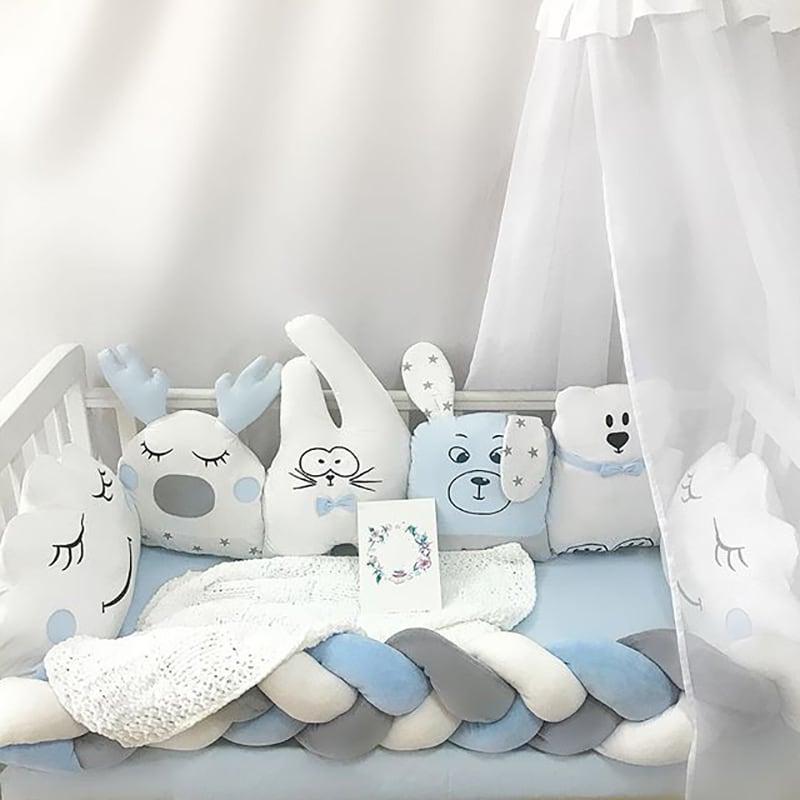 Бортики в ліжечко хлопчикові Різдвяна Казка