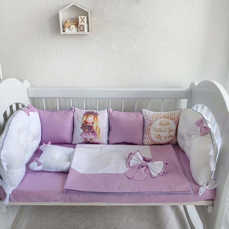 Бамперы подушки в кроватку девочке Сиренити