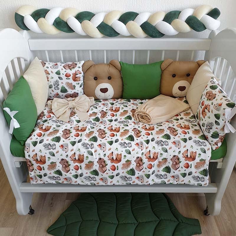 Бортики в ліжечко новонародженим Дружний Ліс