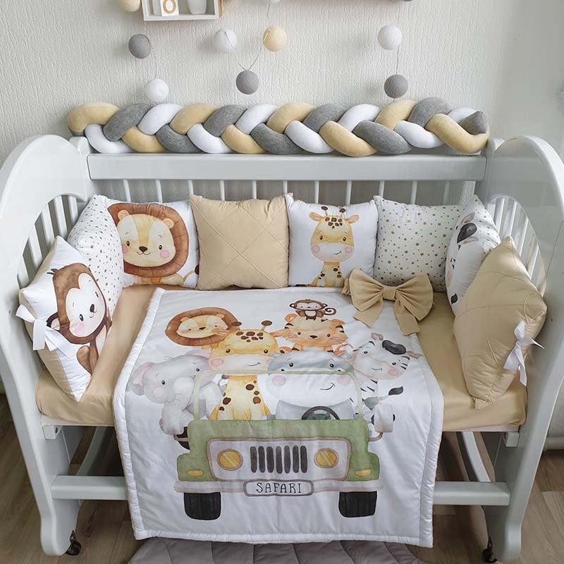 Бортики в кроватку новорожденным Саванна