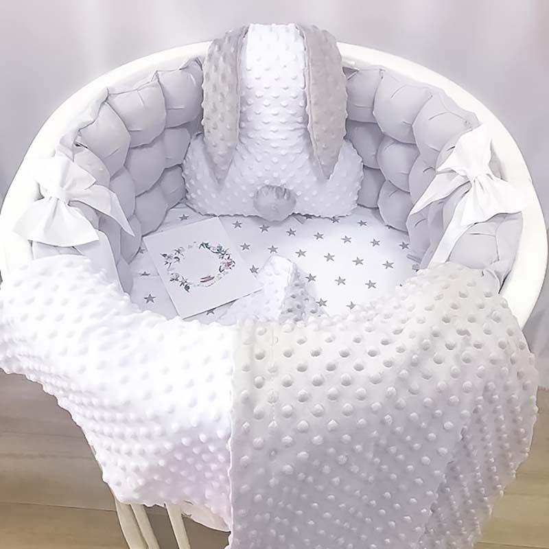 Бортики в круглую кроватку Жемчужный Бон-Бон