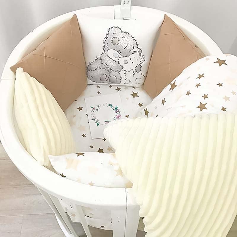 Бортики в круглую кроватку Шоколадный Тедди