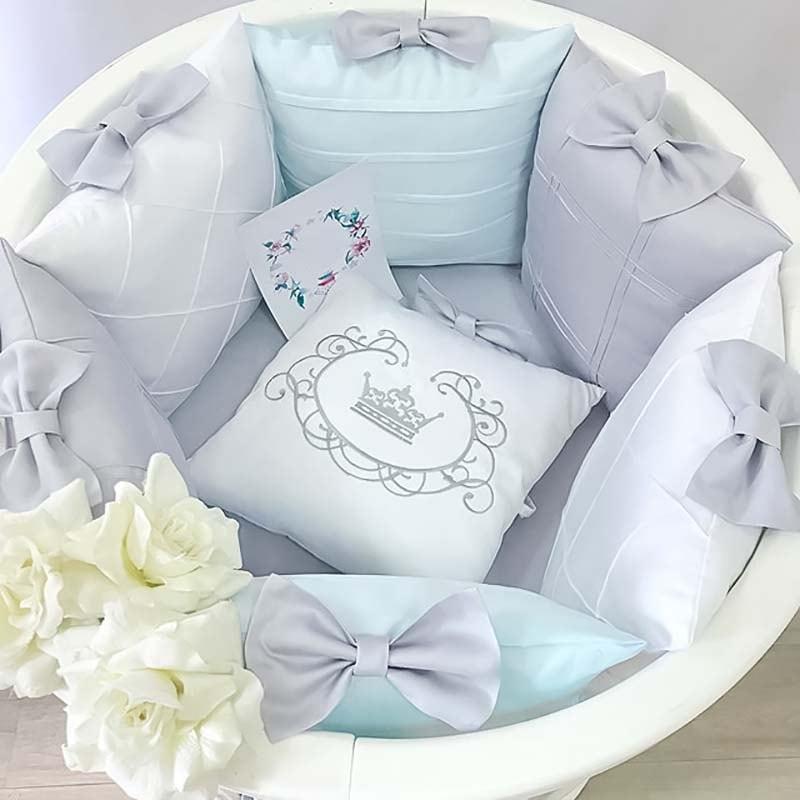 Бортики в кругле ліжечко Бісер