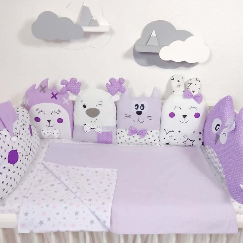 Защитные бортики в овальную кроватку новорожденному Сиренити