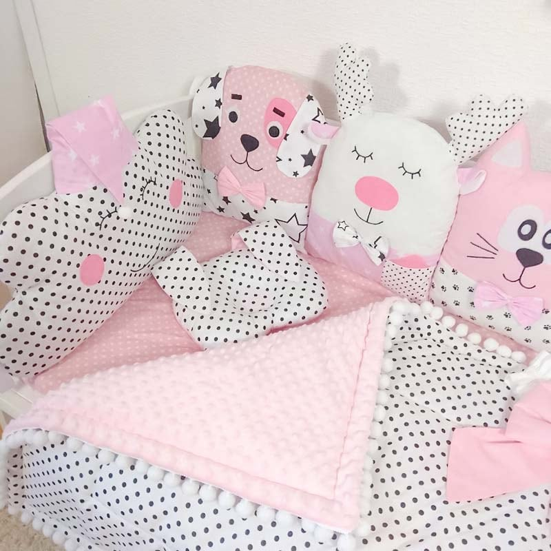 Бортики защитные в кроватку девочке Сказочный Замок Принцессы