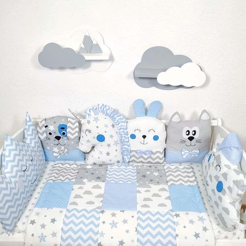 Захисні бортики в ліжечко новонародженим Морська Казка