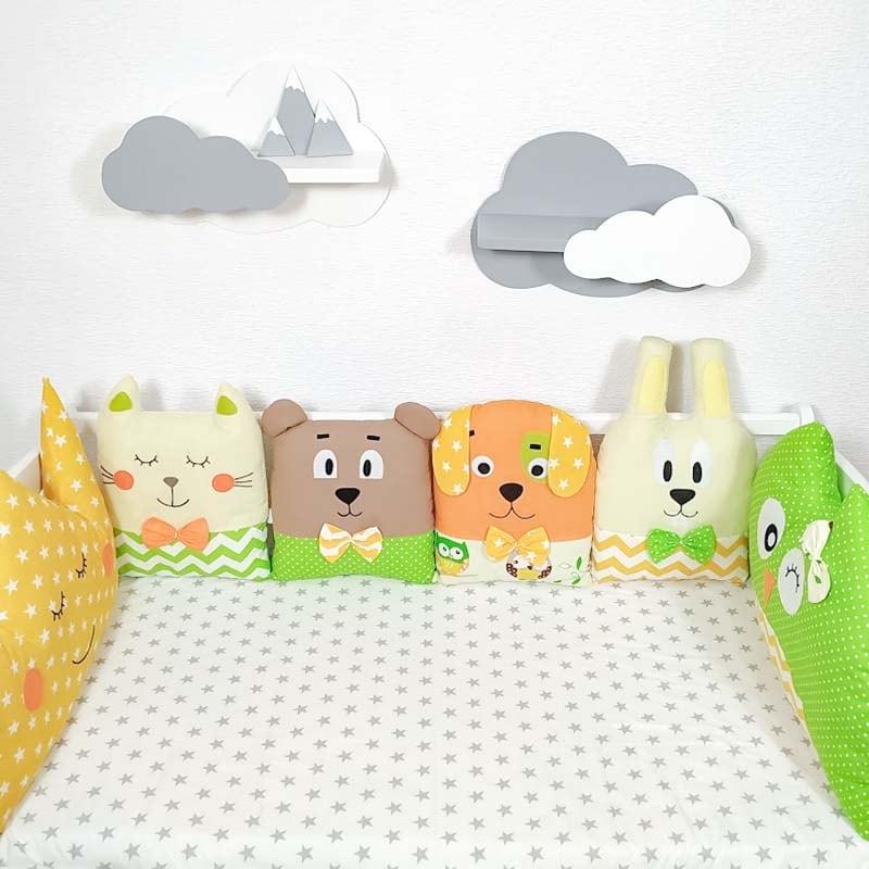 Бортики в кроватку новорожденным Сладкие Мечты