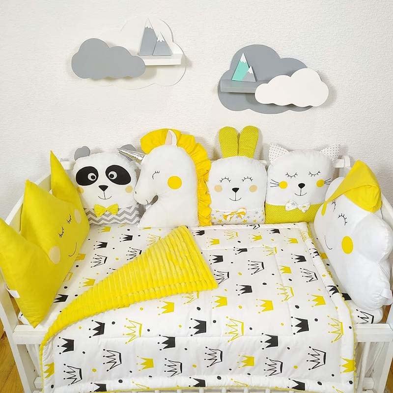 Бортики в ліжечко новонародженого Квіткові Сни
