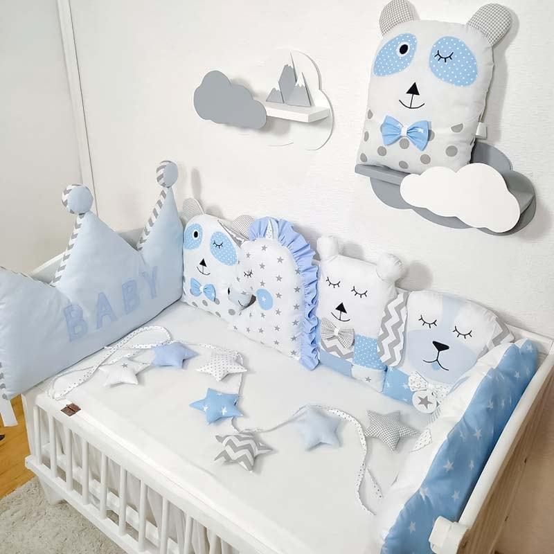 Защитные подушки в кроватку мальчику Лесная Сказка