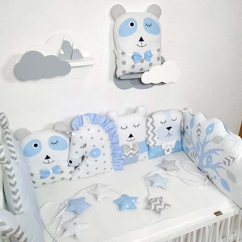 Захисні подушки в ліжечко хлопчикові Лісова Казка