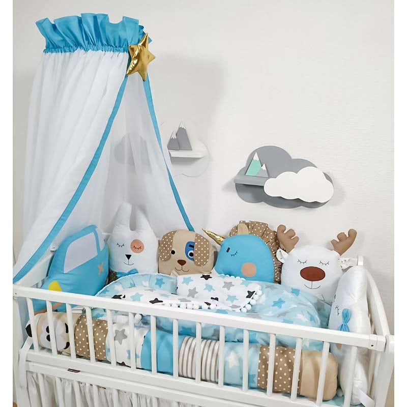 Защитные бортики в кроватку для мальчика Авто-Ралли