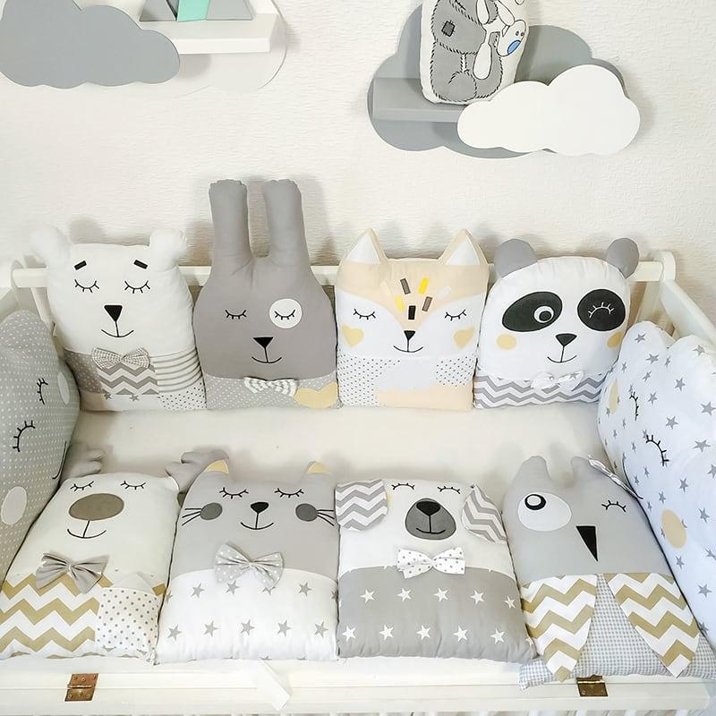 Захисні бортики в ліжечко новонародженого Місячна Доріжка