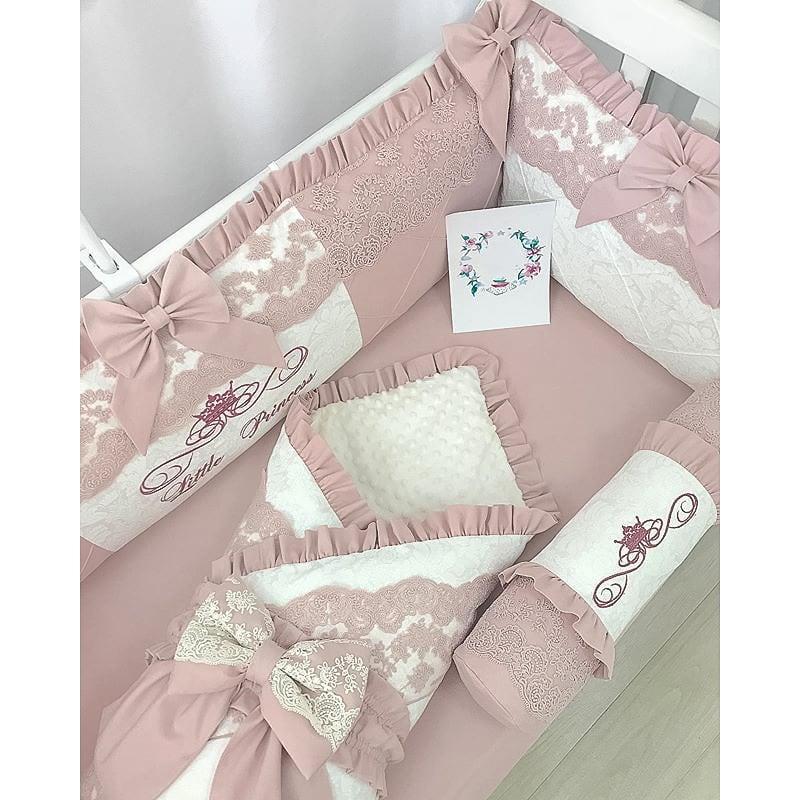 Бортики в кроватку девочке Кружева для Принцессы