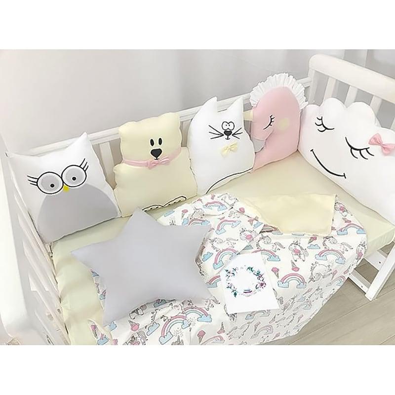 Бортики в ліжечко дівчинці Лісова Колискова