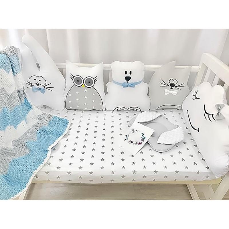 Бортики в кроватку мальчику Белая Сказка