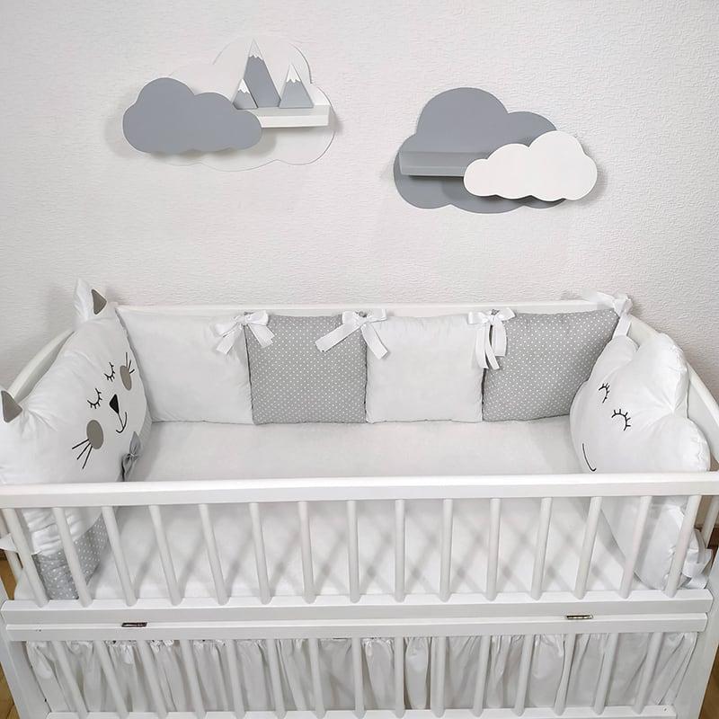 Бортики в кроватку новорожденному Ночная Сказка