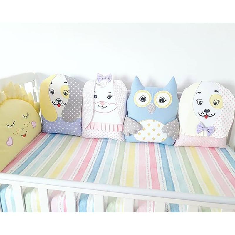 Бамперы подушки в кроватку Все Мои Друзья