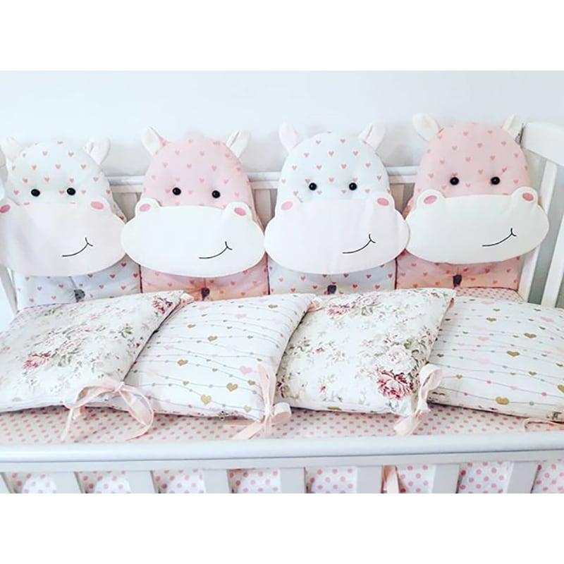Бортики в кроватку девочке Мои Подружки Гипопо
