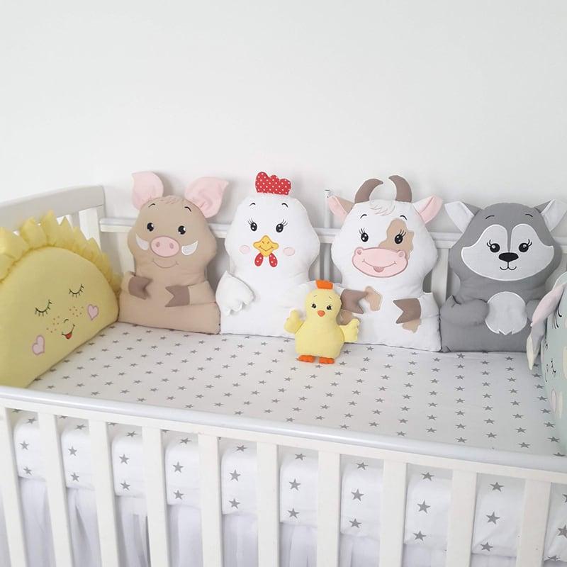 Бортики в ліжечко новонародженим Дача
