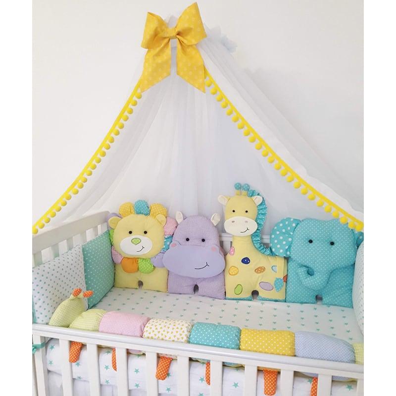 Бамперы подушки в кроватку новорожденным Заповедник