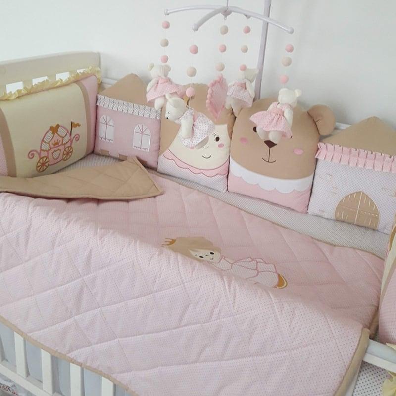 Бортики в ліжечко новонародженій дівчинці Маленька Принцеса