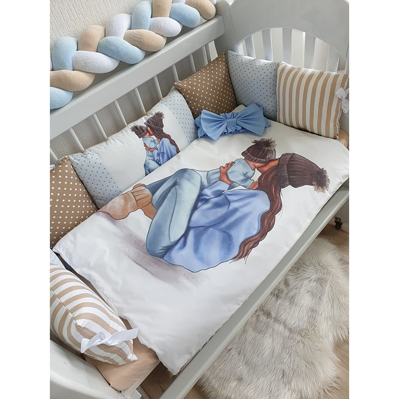 Бортики на ліжечко хлопчику Мій Синочок