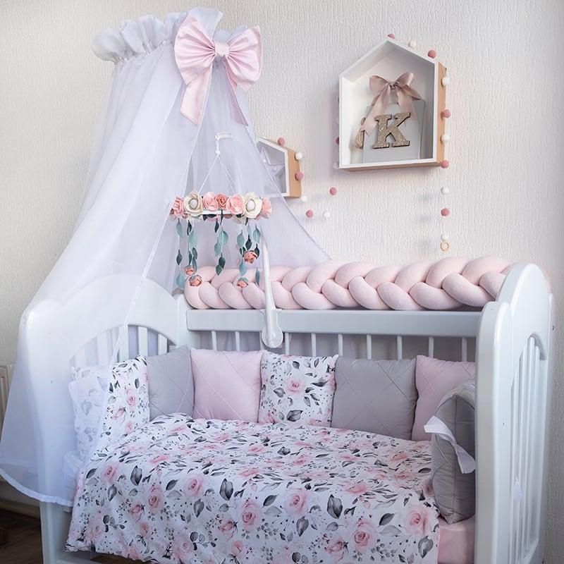Бортики в кроватку новорожденным Принцесса Беби Шик