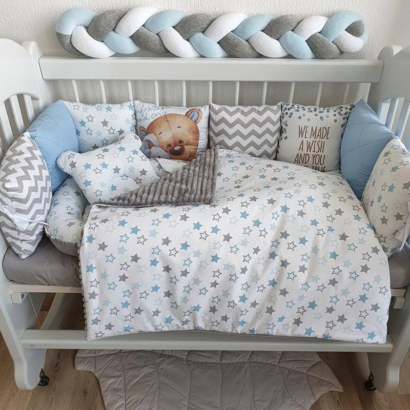 Бортик дитячий в ліжечко Ведмедик Тедді