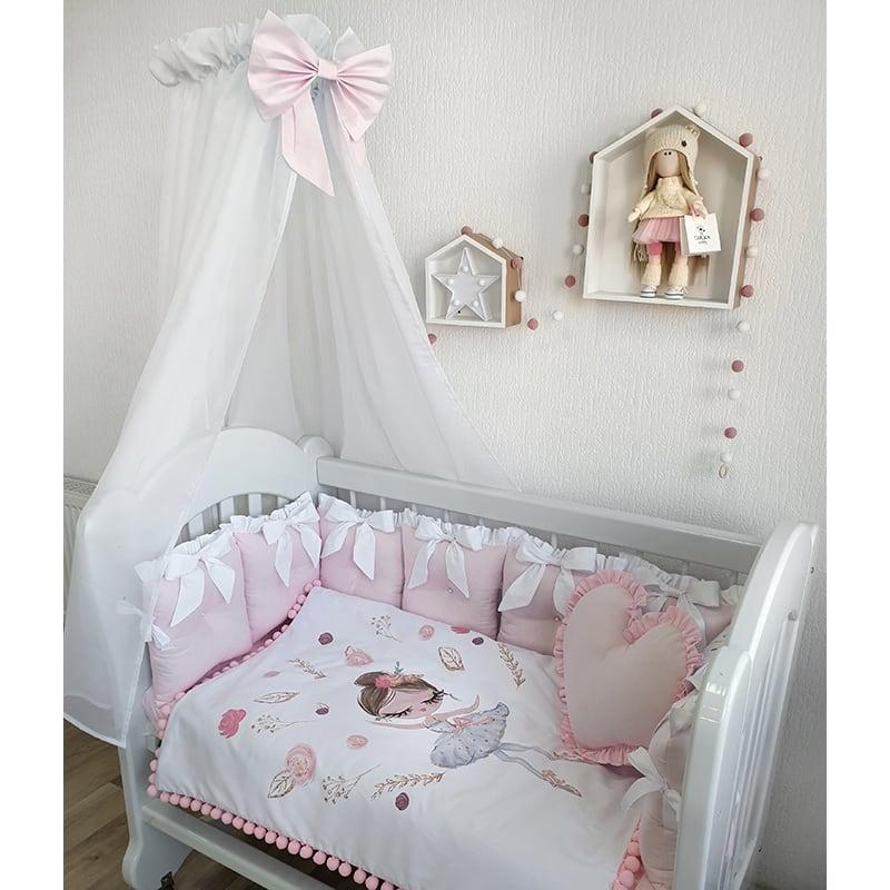 Бортик детский в кроватку Балет