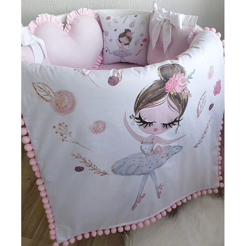 Защитный бортик круглый для кровати Балерина