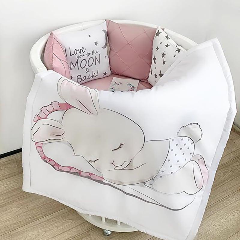 Защитный бортик круглый для кровати Банни
