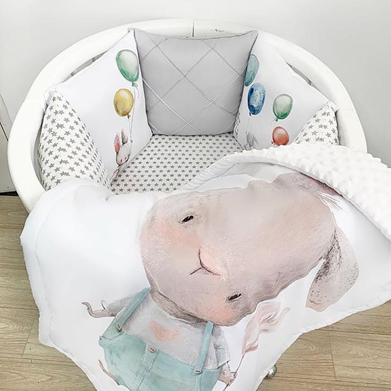 Захисний бортик круглий для ліжка Зайка