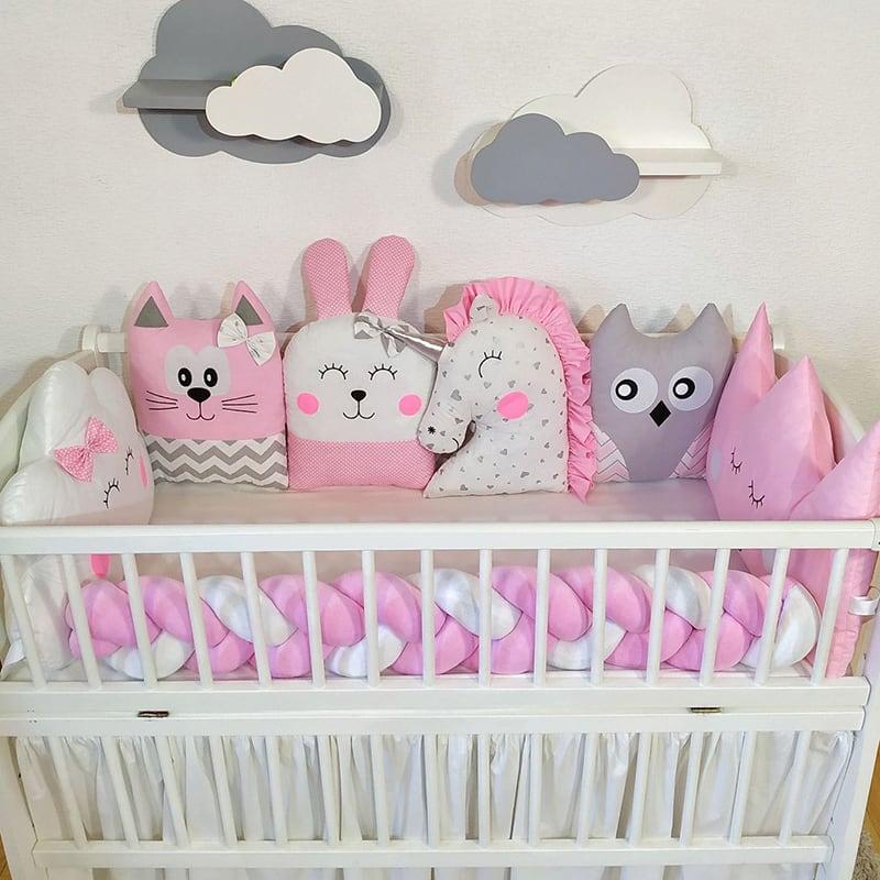 Бортик детский в кроватку Розовая Сказка