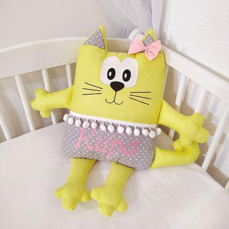 Дитяча подушка Кішка Іменна