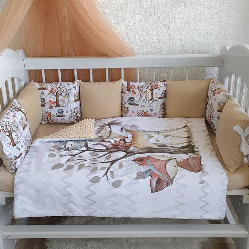Бортик детский в кроватку Дружный Лес