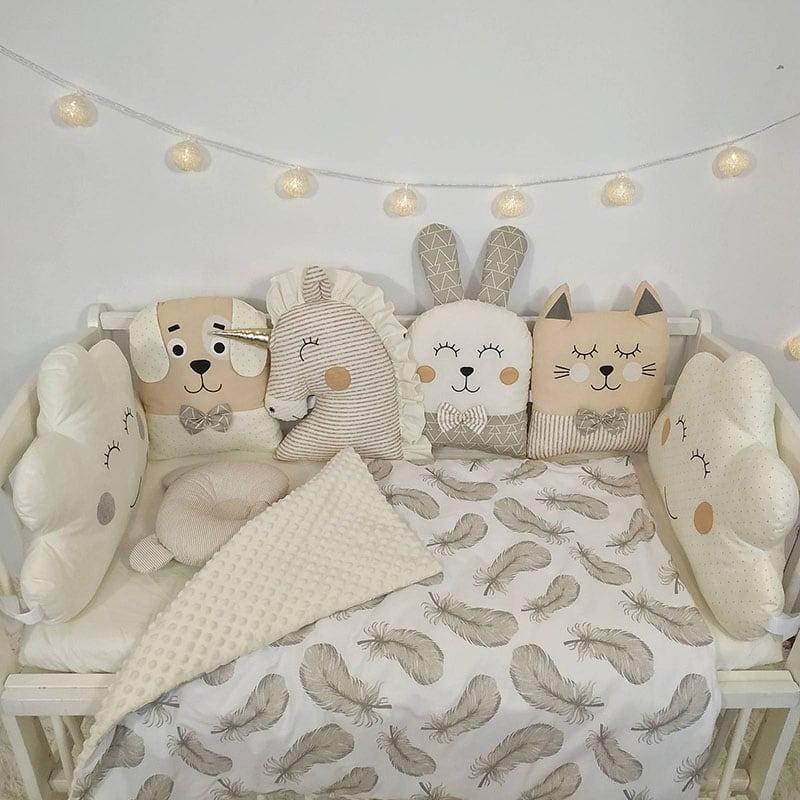 Защитный бортик на кровать Молочная Сказка