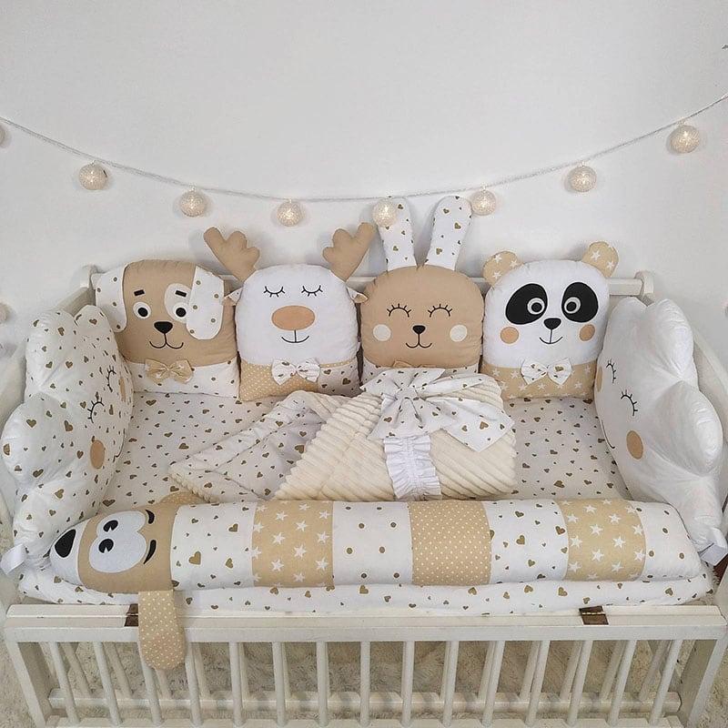 Бортик дитячий в ліжечко I Love Toys